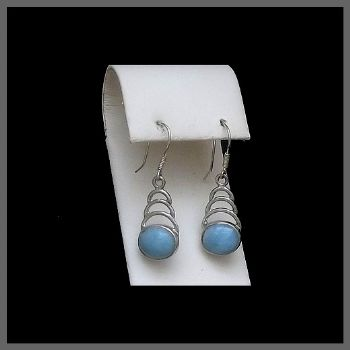 Triple Arc Design Larimar Earrings